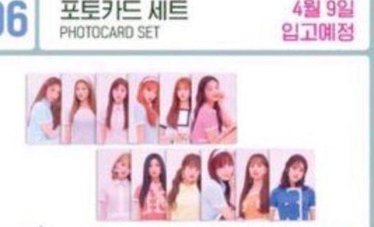 Iz*one pop up store photocard