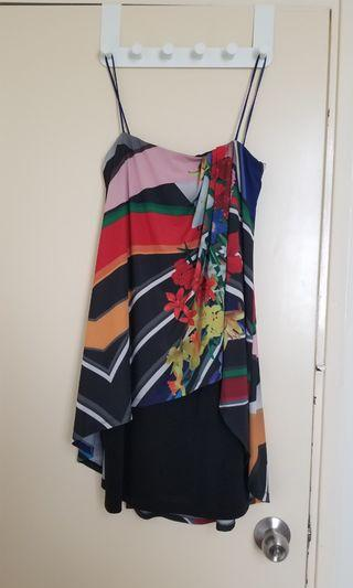 New: Colourful tube party dress w/ straps