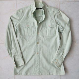 🚚 Gucci Light Green Double Pocket Shirt Jacket