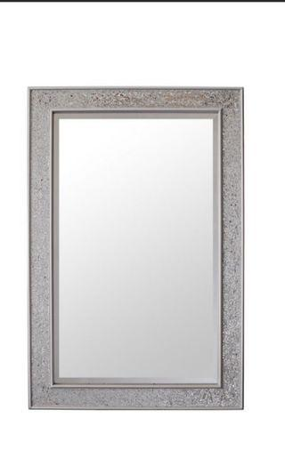 Mosaic Silver Wall Mirror - Large - 90x60cm (2x3ft)