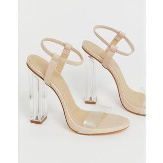 ASOS Truffle Collection 氣質透明高跟鞋