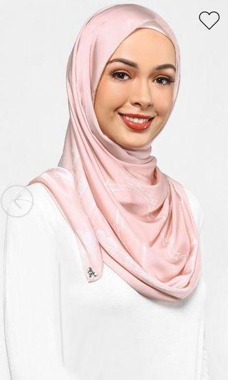 Authentic dUCk scarves Singapore in pink and white