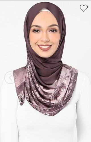 Authentic dUCk scarves London in burgundy