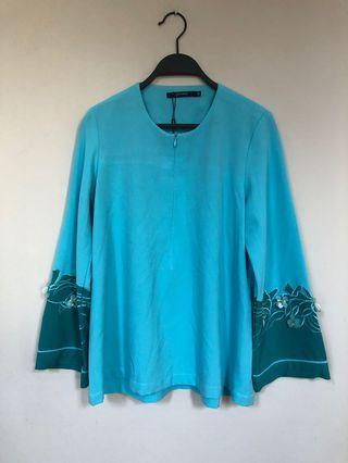 #GayaRaya Jovian Turquoise Blouse