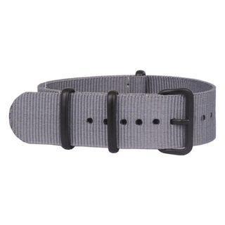 Nato Nylon Watch Strap - 20mm (Grey PVD)