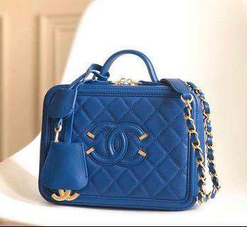 Chanel Vanity Case in Blue Color