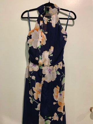 Floral halter neck dress AU6-8