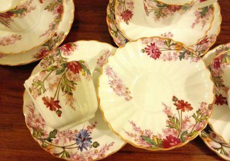 英國 Spode 骨瓷茶壺杯碟19件套
