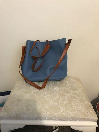 Blue/ brown bag