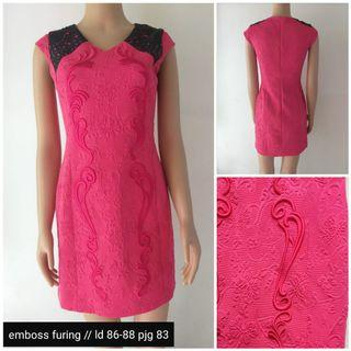 #BAPAU bodycond pink dress