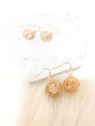 Zelie Wired Crystal Earrings