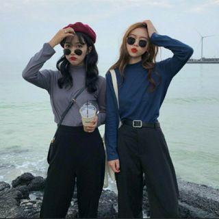 🚚 [2 Colours]Instock Ulzzang Turtle Neck Top