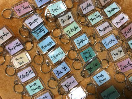 Customised acrylic keychain | customised name | gifts | keyring | #customisedgifts