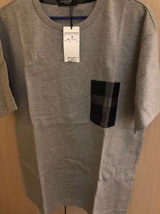 Black label crestbridge 灰色格仔T-shirt