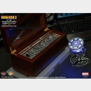 King Arts MPS001 1/1 Scale Movie Props Series Iron Man 2 Reactor And Energy Plate Box