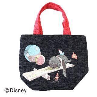 小飛象織錦手挽袋
