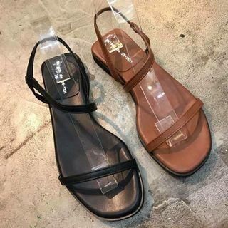 🚚 正韓 雙綁帶涼鞋(黑) 25