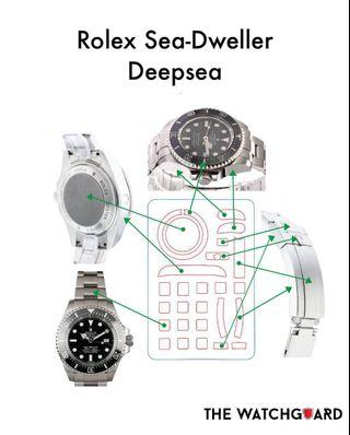 The WatchGuard Protective Sticker for Rolex Deepsea