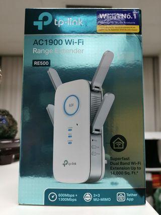 TP Link AC1900 WiFi range extender RE500