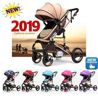 Brand-new suspension stroller/pram/offer/cot/easy to take out and carry