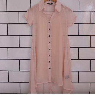 Pink Asimetris Dress