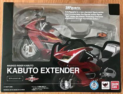 已開封 行版 BANDAI SHF 真骨彫 幪面超人 Masked Rider 甲鬥王 電單車 Kabuto Extender (新淨,齊件)