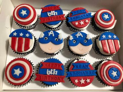 🚚 Captain America Themed Cupcakes