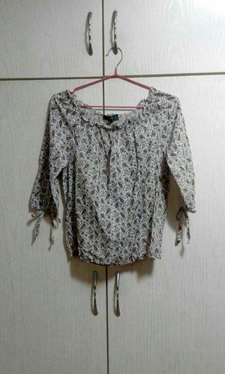 Midi sleeves flora top