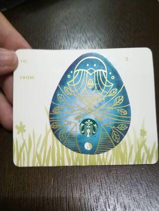 Starbucks easter Card