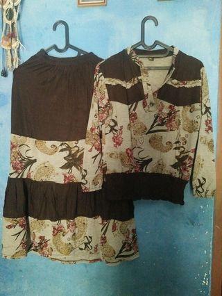 Baju batik set #BAPAU
