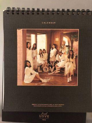 TWICE 2018 SEASON GREETINGS FIRST LOVE CALENDAR