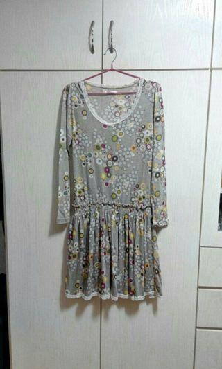 Korea One piece dress薄身長裙