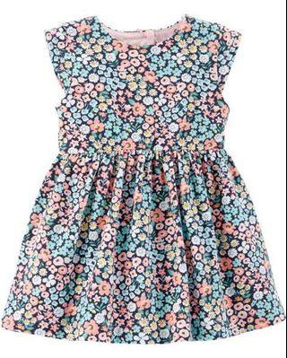 🚚 BNWT Carters Floral Jersey Dress with Back Heart Cutout