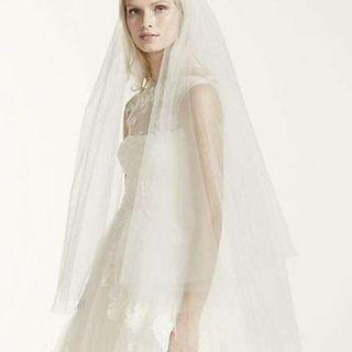💝White by Vera Wang two-tier veil 💝