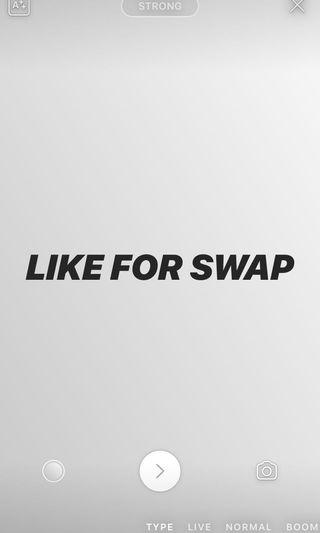 Open for swapping