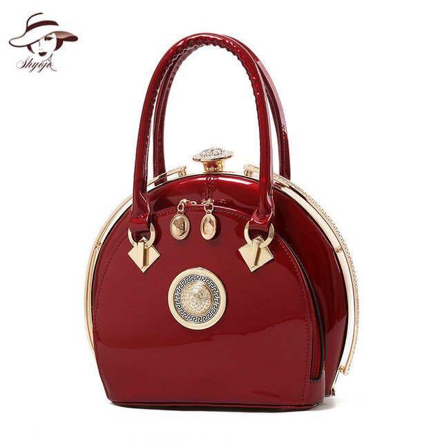 2019 New Arrival Vintage Women Wedding Bag Ladies Classic Princess Totes Shell Day Clutch Party Purse Patent Leather Handbags