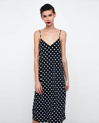 BNWT Zara Strappy Polka Dot Dress