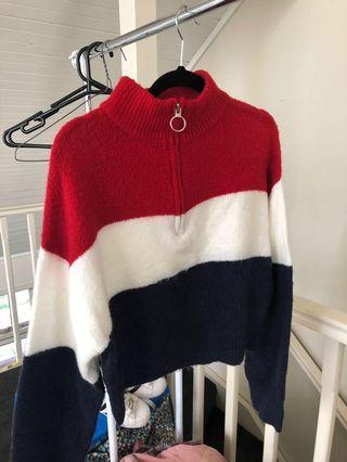 Supre striped fluffy jumper