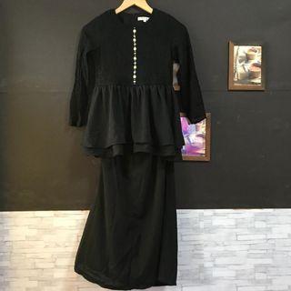 Baju  Kurung peplum set