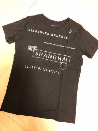 🚚 Starbucks reserve black T shirt