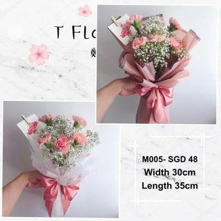 Carnation Flowers Bouquet for Mother's Day