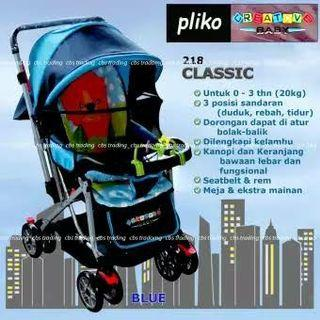 Stroller Pliko Creative Classic Blue