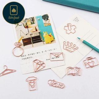 🚚 ✨ Rose Gold Paperclip Set