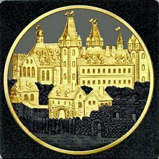 奧地利維也納三金屬銀幣,限量銀幣,鍍金銀幣,銀幣,收藏錢幣,錢幣,紀念幣,幣~奧地利維也納三金屬銀幣(限量五百枚,鍍24K黃金與鍍釕,加上銀,總共三種貴金屬)