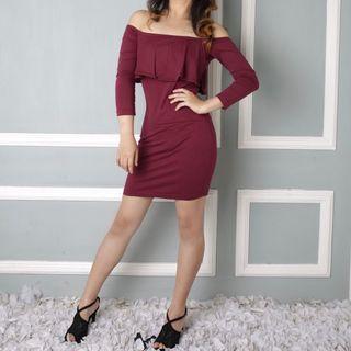 Sabrina Dress Burgundy