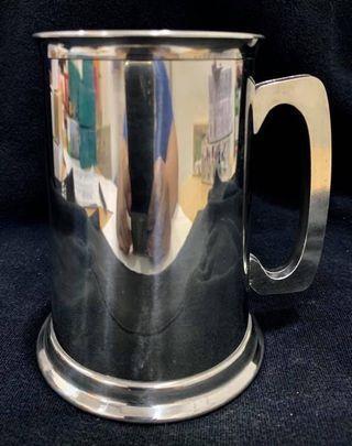 Genuine pewter beer mug