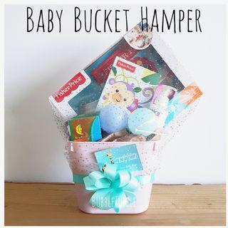 Newborn Baby Gift Hamper Bucket Set - Set C (Present Gift for Mummy & Baby)