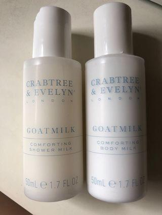 Crabtree & Evelyn Goatmilk body milk &shower milk