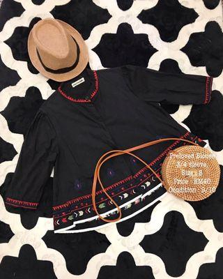Psychedelic top with embroidery pattern