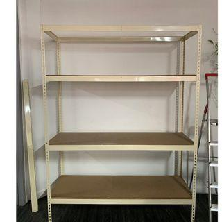 Industrial Metal Shelving with Wooden shelves